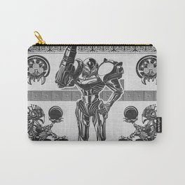 Metroid - Samus Aran Line Art Vector Character Poster Carry-All Pouch