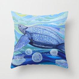 Leatherback Sea Turtle Throw Pillow