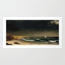 Approaching Storm by Martin Johnson Heade, 1861 Art Print
