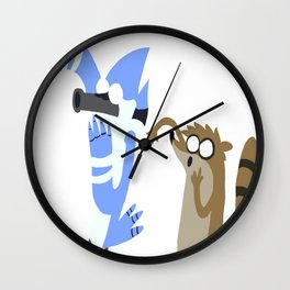 Mordecai and Rigby  Wall Clock