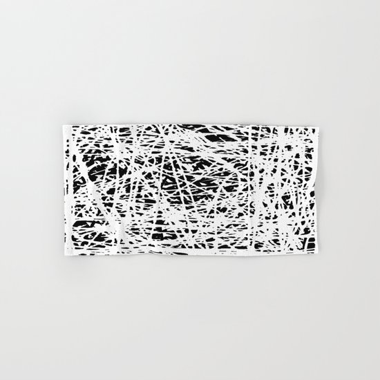 Whispers In the Dark - Black and White Abstract Hand & Bath Towel