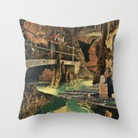 nick cave Throw Pillows featuring Cave by Sarah Eisenlohr