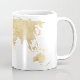 Gold World Map Coffee Mug
