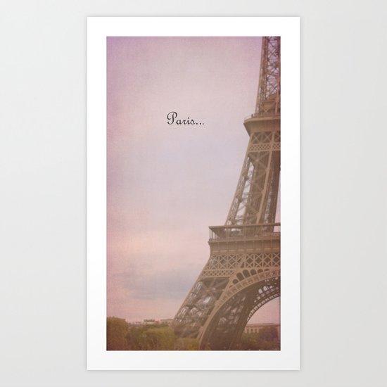 Paris... Art Print