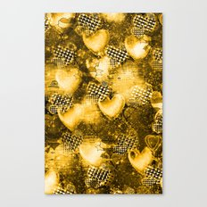 Light Bulb Hearts Series (Gold) Canvas Print