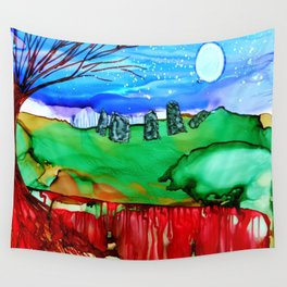 Standing Stones In Winter Wall Tapestry