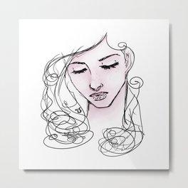Girl Portrait Metal Print