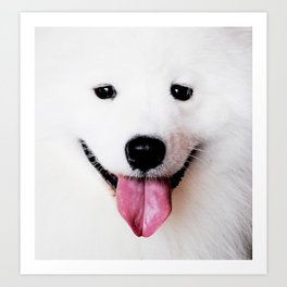 SAMOYED - THE SMILING BREED Art Print