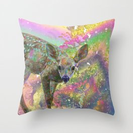 Paint with All the Colors on the Deer Throw Pillow