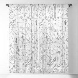 Creepy Luck Sheer Curtain