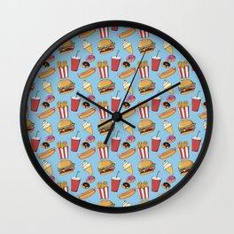 Fast-food (blue) Wall Clock
