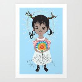 Mazatzin lil deer Art Print