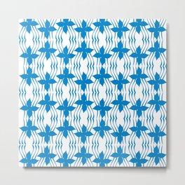 Bluewave Pinwheel Metal Print