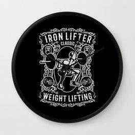 iron lifter classic Wall Clock