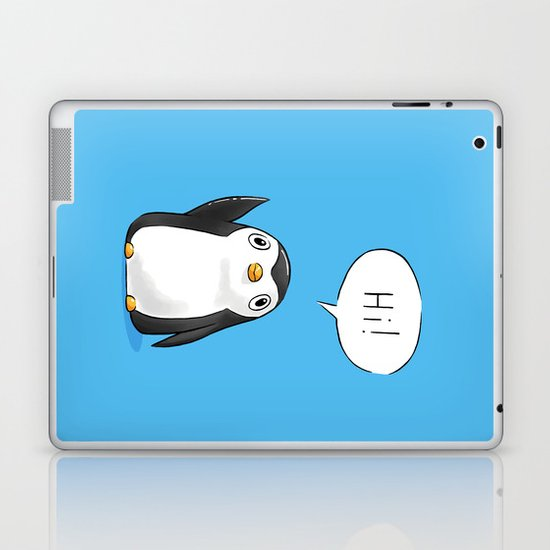 Hi Penguin Laptop & iPad Skin