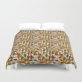Geometric Quilt Duvet Cover