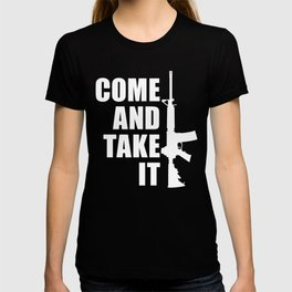 Come and Take it with AR-15 inverse T-shirt