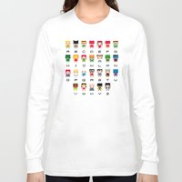 aquaman Long Sleeve T-shirts featuring Superhero Alphabet by PixelPower