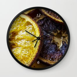 Dried oranges Wall Clock