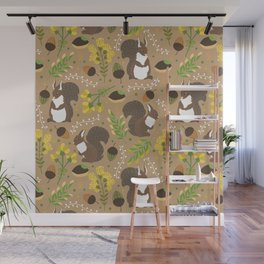 Chocolate squirrels Wall Mural