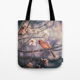 Northern Red Cardinal Spring Tote Bag
