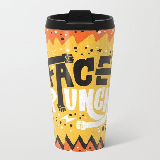 FACE PUNCH Metal Travel Mug