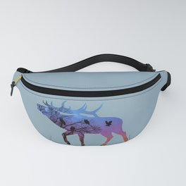Night Wisdom Elk - Colorful Fanny Pack