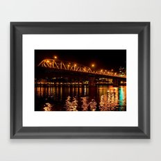 hawthorn bridge Framed Art Print