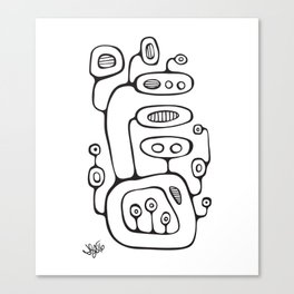Orbs N Lines - Broadcast Canvas Print