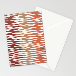 Abstract Waves in brown colour-scheme Stationery Cards
