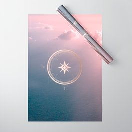 The Edge of Tomorrow - Rosegold Compass Wrapping Paper
