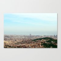 barcelona Canvas Prints featuring Barcelona by Julius Marc