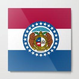 Flag of Missouri Metal Print