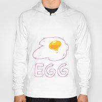 egg Hoodies featuring EGG by lemonteaflower