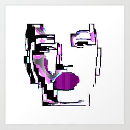 Android Pixelated Art Print