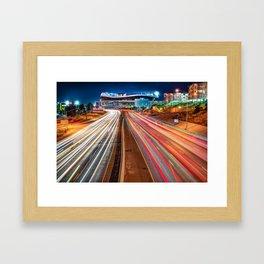 Stadium at Mile High - Denver Colorado Framed Art Print