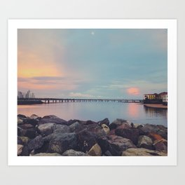 New + Old Together in Panama City Art Print