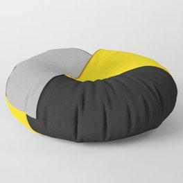 Simple Modern Gray Yellow and Black Geometric Floor Pillow