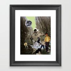 Dancing Cave Framed Art Print
