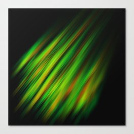 Colorful neon green brush strokes on dark gray Canvas Print