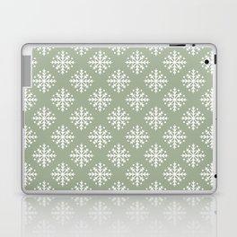 White Snowflakes 3 Laptop & iPad Skin