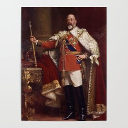 King Edward VII in coronation robes Poster