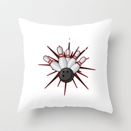 Strikeologist Bowling Bowlers Skittles Sport Gift Throw Pillow