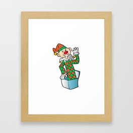 Cartoon Jack In The Box Framed Art Print