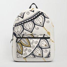 Mandala - Gold and Black Backpack