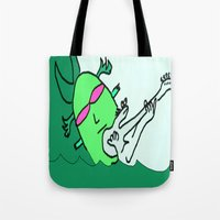 aquaman Tote Bags featuring aquaman  by Davey Charles