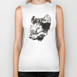 Patterned fox Biker Tank