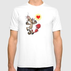 Horsey Love White Mens Fitted Tee SMALL