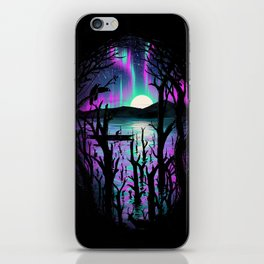 Night With Aurora iPhone Skin
