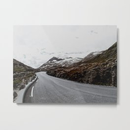 Exploring norwegian roads Metal Print